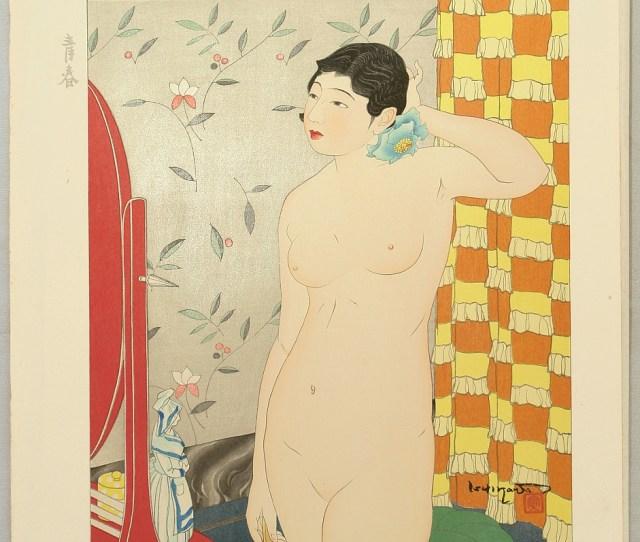 Woodblock Print By Toraji Ishikawa   Title Ten Types Of Female Nudes
