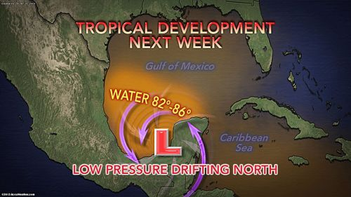 Accuweathers forecast for potential tropical storm formation