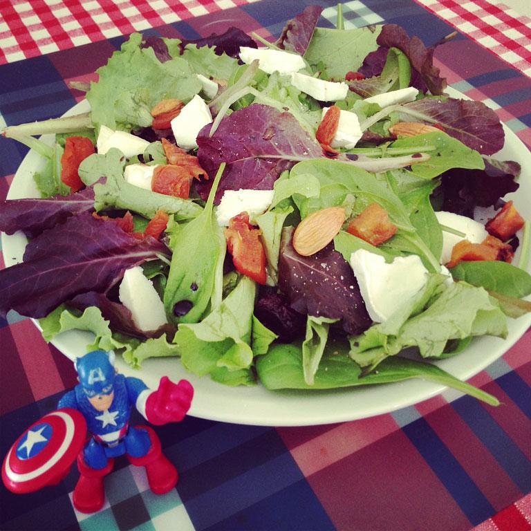 The Election Day salad: insalata con pecorino e frutta secca