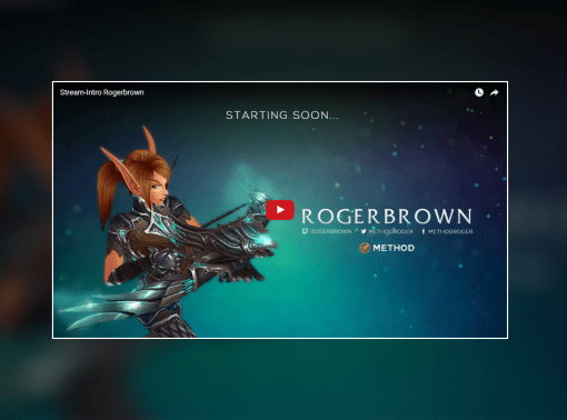Stream Intro Video – Rogerbrown