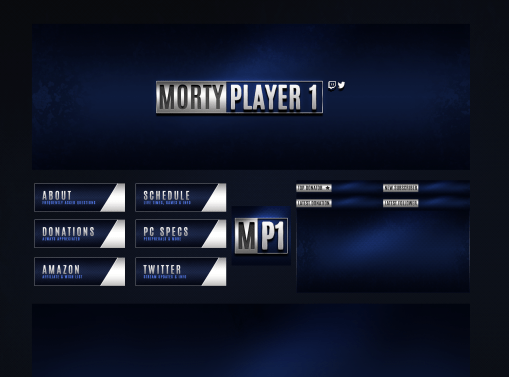 Twitch Design Pack for MortyPlayer1