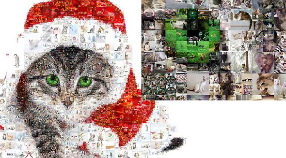 Simple Photo Collage Maker algorithm