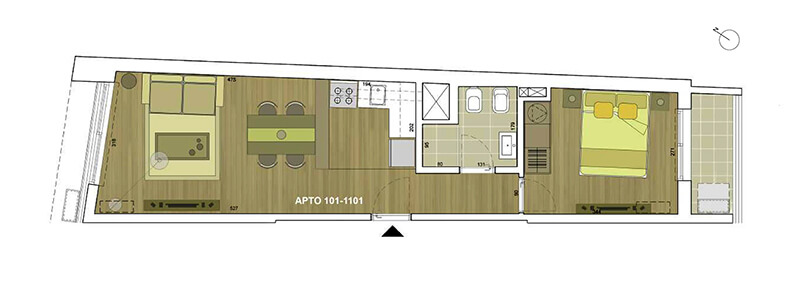 thays plano 1 dormitorio