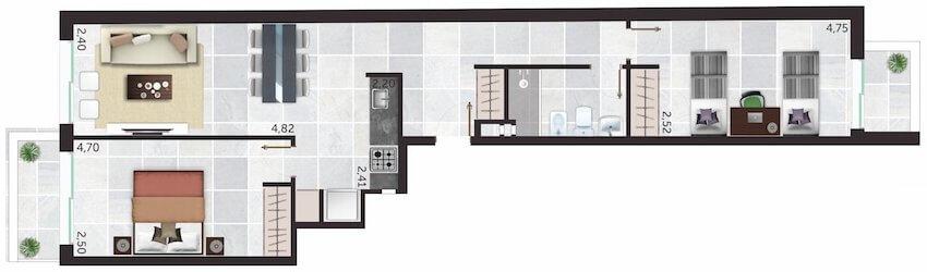 Alta Corte 2 Dormitorios unidades 01