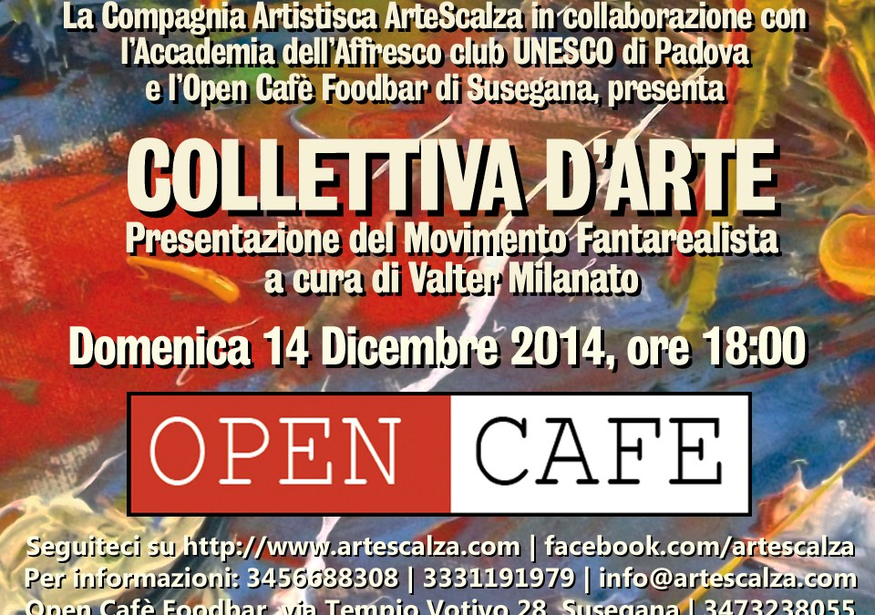 Collettiva d'arte all'Open Cafè Foodbar di Susegana.