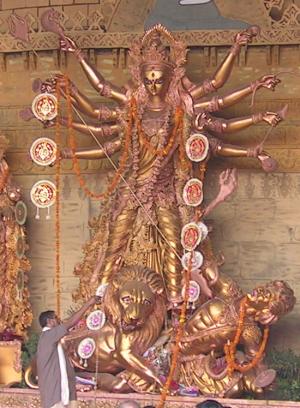 A deusa Durga é considerada como a deusa mãe suprema por alguns hindus