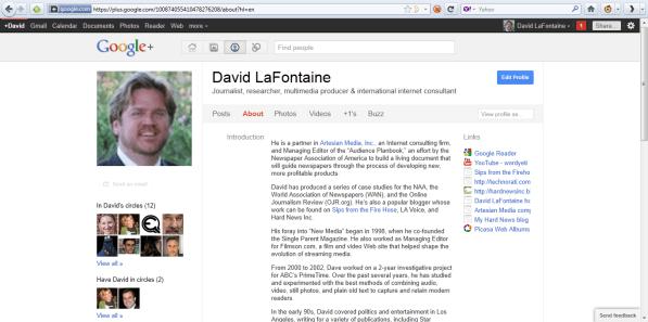 dave lafontaine profile on google plus