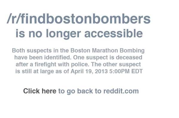 reddit boston bomber thread taken down