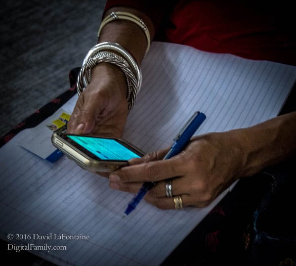 journalist taking notes rather than creating fake news stories