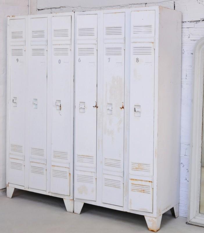 vintage used metal storage cabinet