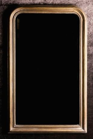 tres beau miroir de style napoleon iii verre biseaute cadre dore finition vieilli par le temps resultat tres authentique