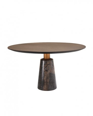 create a modern and friendly space in your home with the round dining table moka