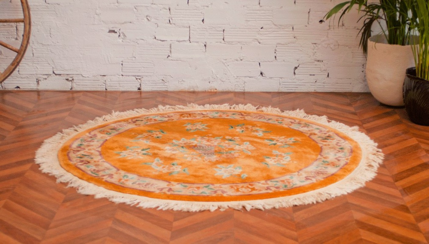 tapis vintage tapis ancien rond
