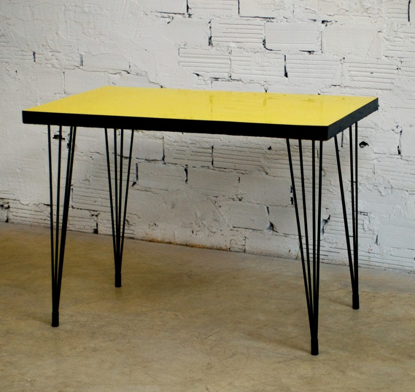 bistro table 50s yellow formica
