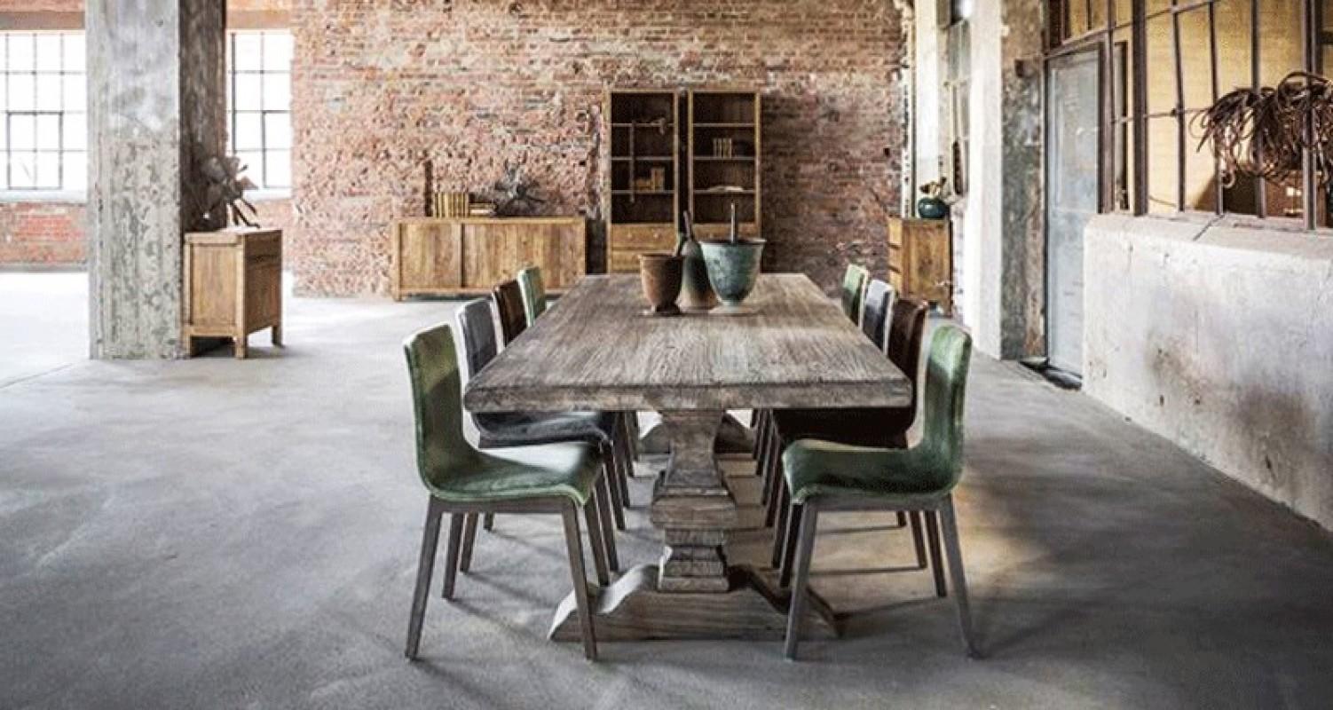 Table Monastre Grise Table De Ferme Table Bois Grande