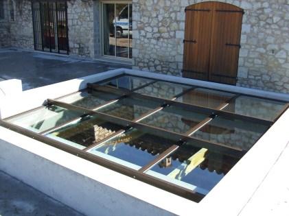Photo toiture vitré ouvrante motorisé