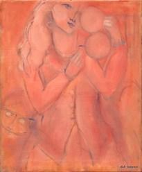 H27 - Le miroir rose (55 x 46 cm)