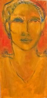 Triolet Triptyque 3/3 Huile sur toile 40 x 19,5 cm
