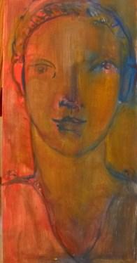 Triolet Triptyque 1/3 Huile sur toile 40 x 19,5 cm