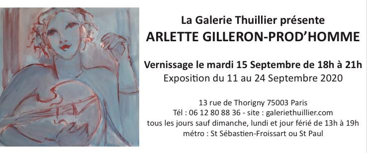 Invitation Expo Arlette Gilleron-Prod'homme