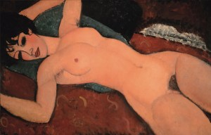 red nude - modigliani