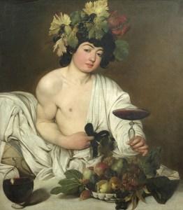the young bacchus - caravaggio