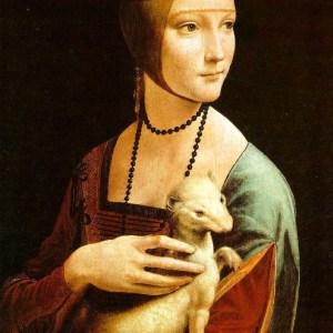 woman with ermine - leonardo