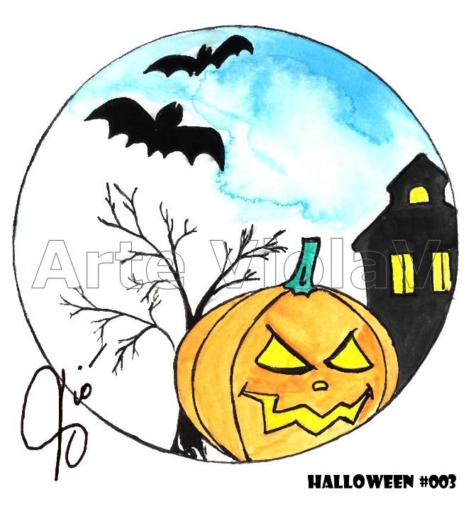 Halloween zucca illustrazioni di Violetta Viola Arte ViolaV