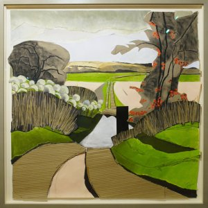 Artist Tor Falcon, Ford over the River Tiffey, Mixed Media. Photo by Katy Jon Went