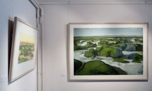 Artist Malca Schotten Hunstanton Rocks V, Mandell's Gallery, Norwich