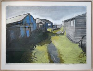 Artist Malca Schotten Sheds II Brancaster Staithe