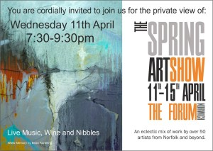Spring Art Show, Private View, The Forum Norwich