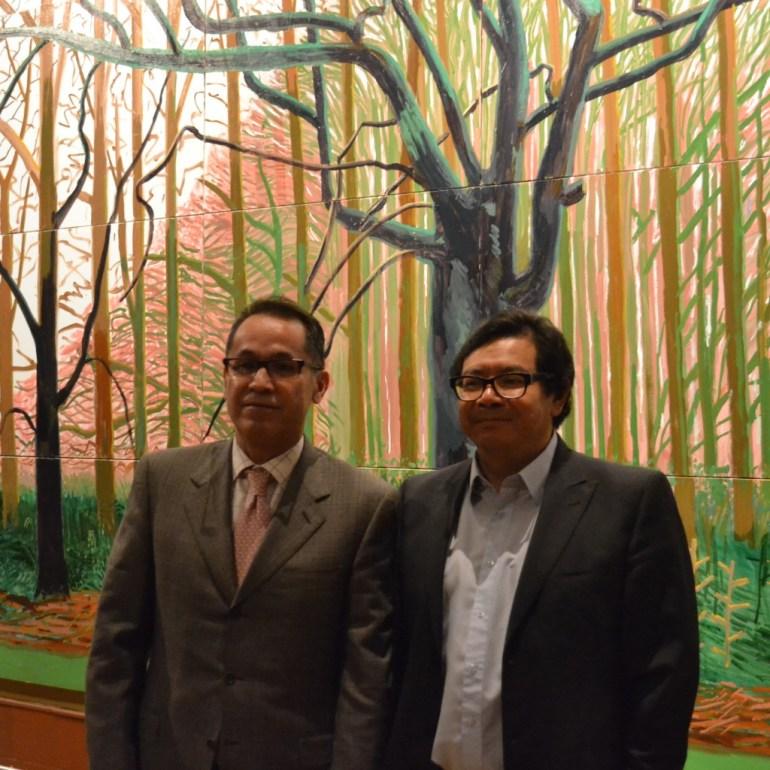 Agustin Arteaga, director del MUNAL, y Edgardo Bermejo, representante del British Council