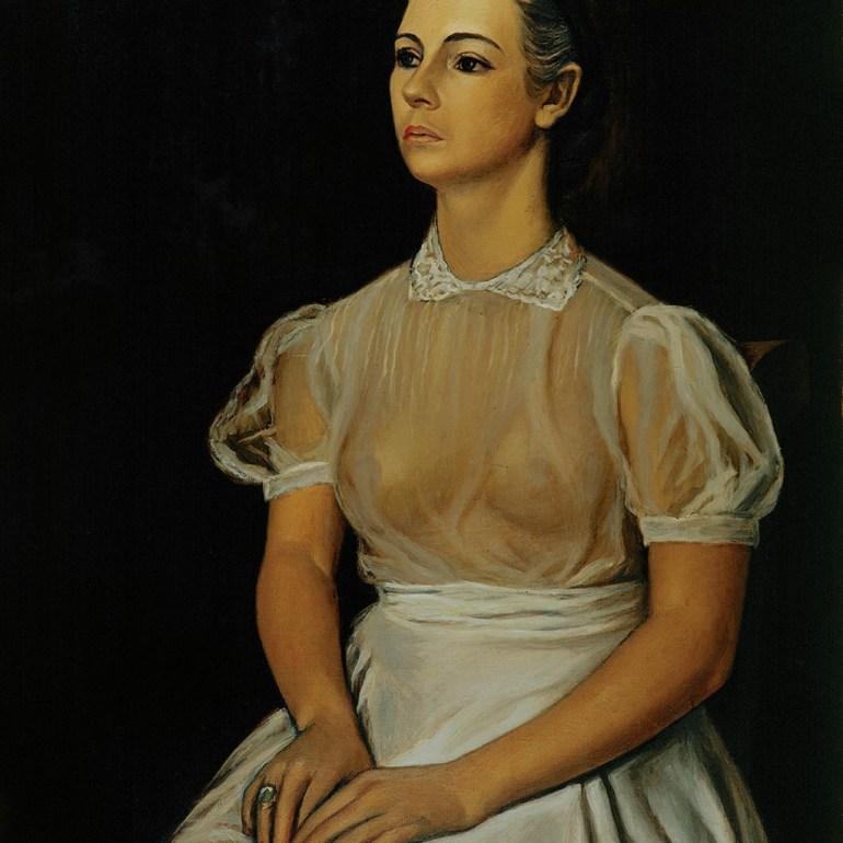 Retrato de María Asúnsulo (1942) óleo sobre tela