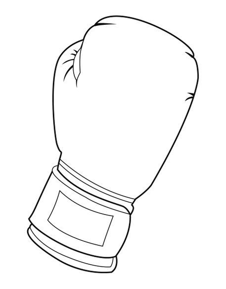 """""""black and white boxing glove"""" drawing art prints and"""