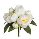 Buchet bujori 31 cm alb