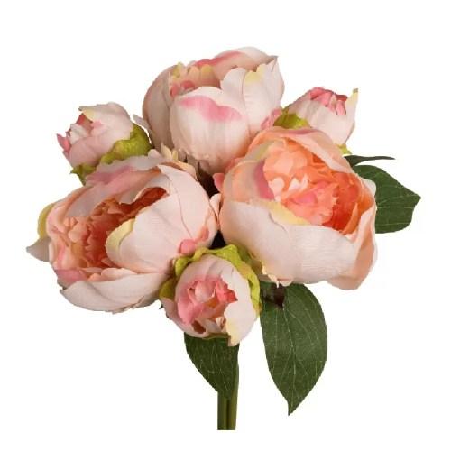 Buchet bujori 31 cm roz somon