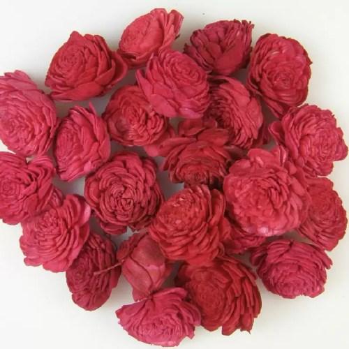 Capete flori Ming Rosu set