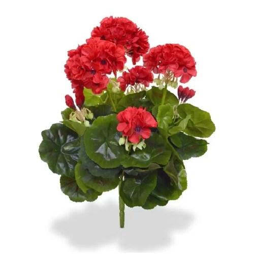 Geranium Muscata artificiala buchet rosu 40cm