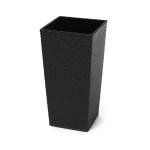 Ghiveci Basic patrat negru structurat