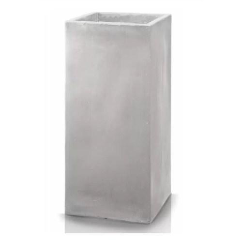 Ghiveci plante inalt compozit fibra beton usor gri nisip 3 variante marimi