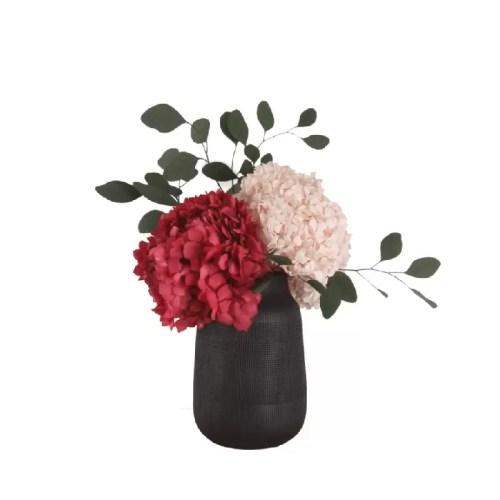 Hortensia conservata rosie natur in vaza