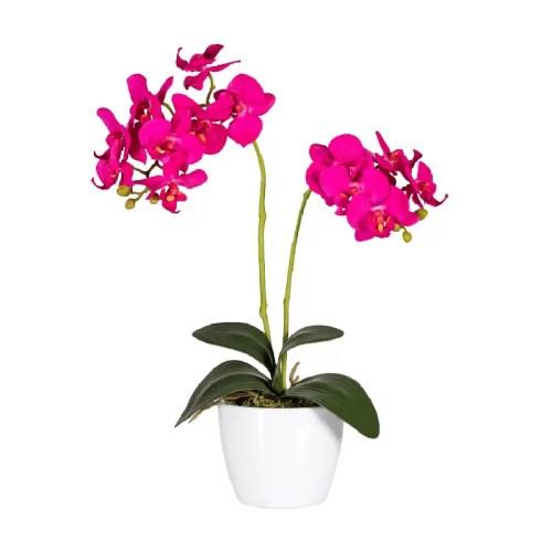Orhidee decorativa fucsia ghiveci 50cmG