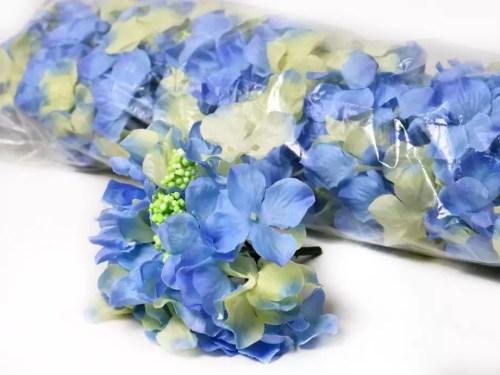 hortensia planta artificiala albastru azuriu