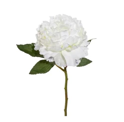 Bujor artificial Alb 39cm