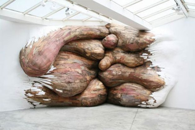 Tapumes | 2008 | Galerie Vallois, Paris-France | plywood and PVC | 3,2 x 6,2 x 0,9m