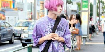 Nosuke Pelajar Mode Jepang Memperlihatkan Gaya Fashion Harajuku Dengan Rambut Pastelnya Yang Menawan