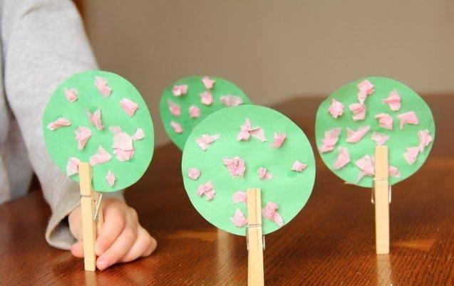 Kerajinan Mudah Untuk Anak Dalam Membuat Pohon Sakura