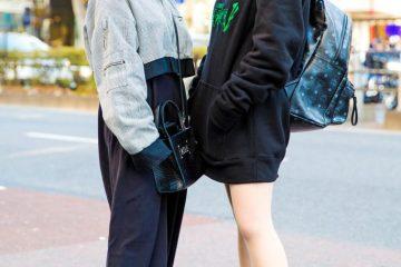 Harajuku Street Style Dengan Sepatu Wedge Hitam Dalam Fashion Jepang