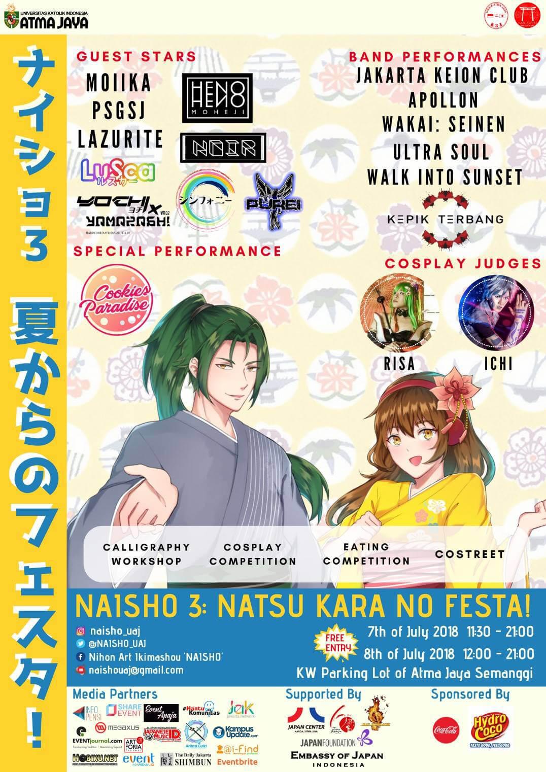 Festival Musim Panas Jepang Dalam NAISHO 3 Natsu Kara No Festa